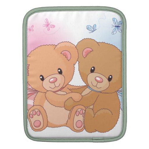 Carrito lindo Slevees del abrazo del amor del oso  Mangas De iPad