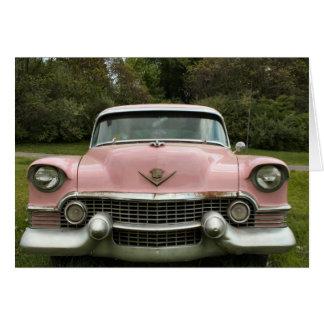 Carrito rosado tarjeton