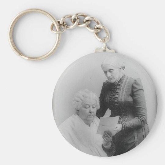 Carrito Stanton y Susan B. Anthony de Elizabeth Llavero Redondo Tipo Pin