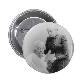 Carrito Stanton y Susan B. Anthony de Elizabeth Pin Redondo De 2 Pulgadas
