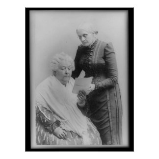 Carrito Stanton y Susan B. Anthony de Elizabeth Póster