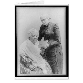 Carrito Stanton y Susan B. Anthony de Elizabeth Tarjeta De Felicitación