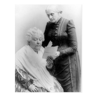 Carrito Stanton y Susan B. Anthony de Elizabeth Tarjeta Postal