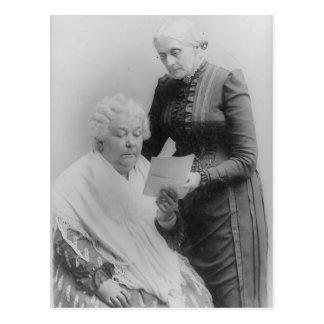 Carrito Stanton y Susan B. Anthony de Elizabeth Tarjetas Postales