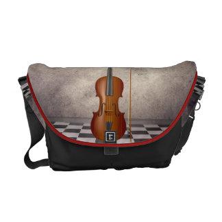Carrito surrealista   Messeng del violín Bolsa De Mensajería