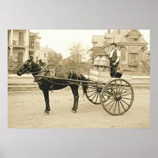 Carro 1905 de la leche de New Orleans Póster