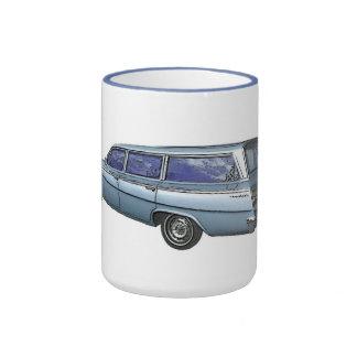Carro 1962 de estación de Chevrolet del azul Taza De Dos Colores