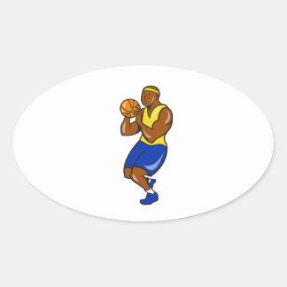 Carro afroamericano de la bola del lanzamiento del colcomanias de óval