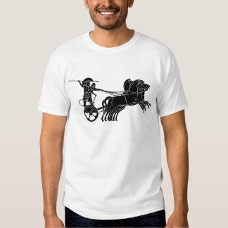 Carro (carro) del caballo, diseño griego del playeras