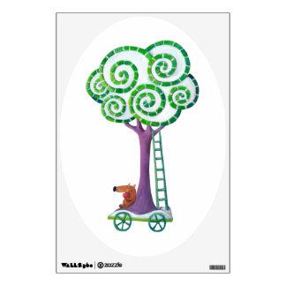 Carro con el árbol mágico