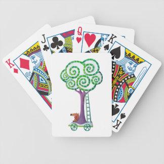 Carro con el árbol mágico baraja cartas de poker