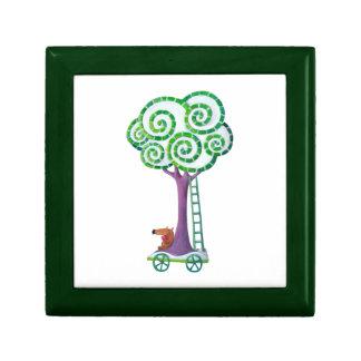 Carro con el árbol mágico caja de regalo