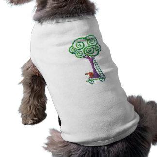 Carro con el árbol mágico camisetas mascota