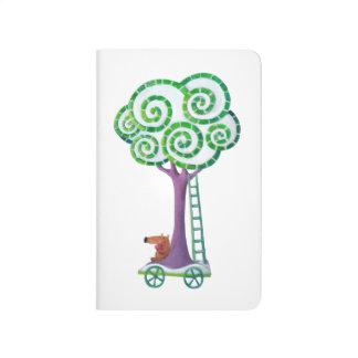 Carro con el árbol mágico cuadernos grapados