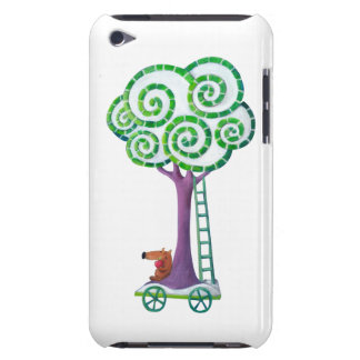 Carro con el árbol mágico barely there iPod carcasa