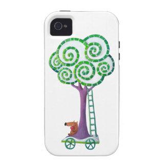 Carro con el árbol mágico Case-Mate iPhone 4 carcasa