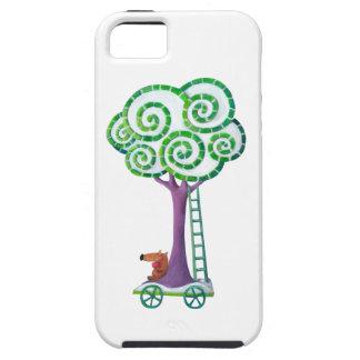 Carro con el árbol mágico iPhone 5 cárcasas