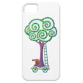 Carro con el árbol mágico iPhone 5 carcasa
