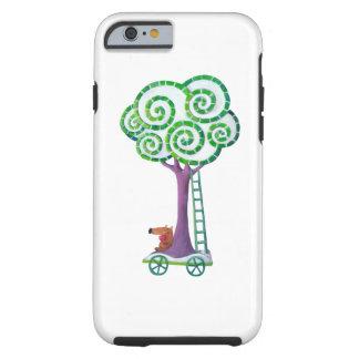 Carro con el árbol mágico funda de iPhone 6 tough