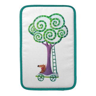 Carro con el árbol mágico fundas macbook air