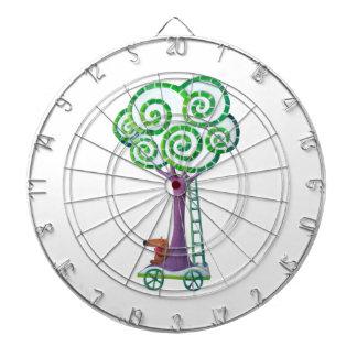 Carro con el árbol mágico tablero dardos