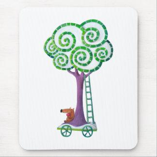 Carro con el árbol mágico tapete de ratones