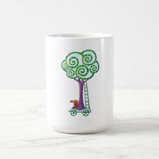 Carro con el árbol mágico taza de café