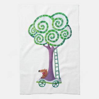Carro con el árbol mágico toalla