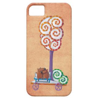 Carro con el árbol y el banco mágicos iPhone 5 funda