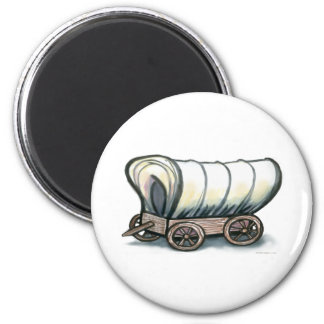 Carro cubierto imán redondo 5 cm