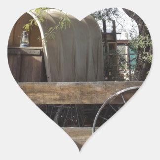 Carro cubierto pegatina en forma de corazón