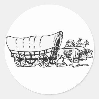 Carro cubierto pegatina redonda
