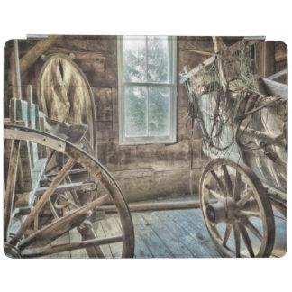 Carro cubierto, rueda de carro de madera cover de iPad