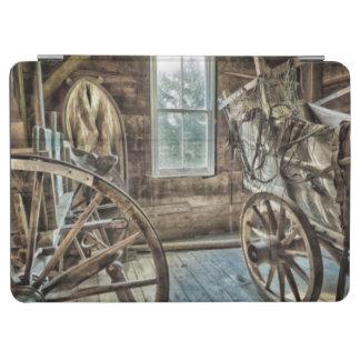 Carro cubierto, rueda de carro de madera cover de iPad air