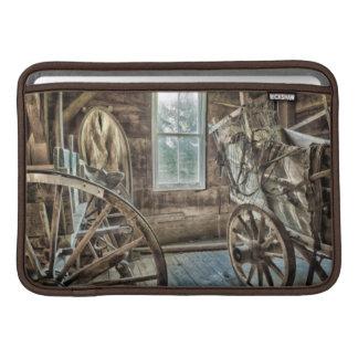 Carro cubierto, rueda de carro de madera funda  MacBook