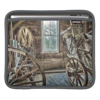 Carro cubierto, rueda de carro de madera fundas para iPads