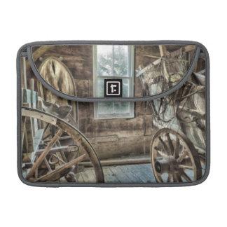 Carro cubierto, rueda de carro de madera fundas para macbooks