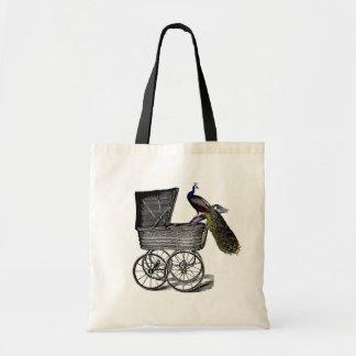 Carro de bebé caprichoso elegante del pavo real de bolsa de mano
