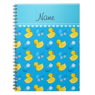 Carro de bebé conocido del rubberduck del azul de spiral notebook