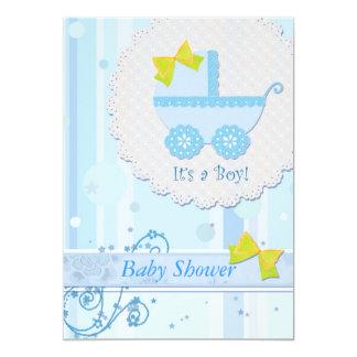 """Carro de bebé """"es fiesta de bienvenida al bebé invitación 5"""" x 7"""""""
