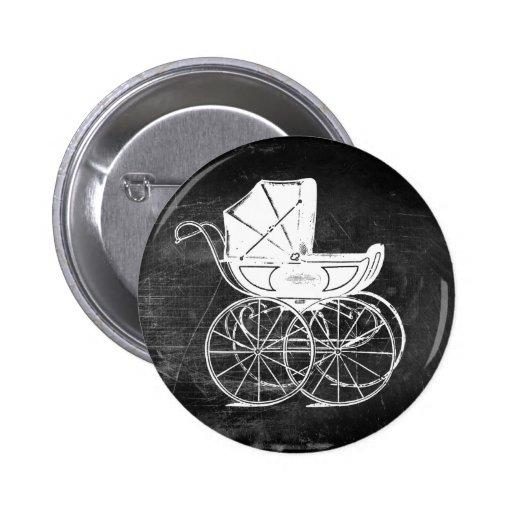 Carro de bebé gótico pin