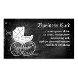 Carro de bebé gótico tarjetas de visita