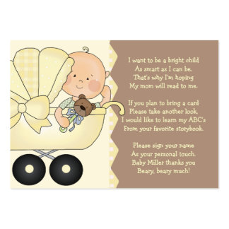 Carro de bebé - tarjeta del parte movible del tarjetas de visita grandes