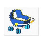 carro de bebé temático azul graphic.png impresion de lienzo