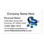 carro de bebé temático azul graphic.png tarjetas de visita
