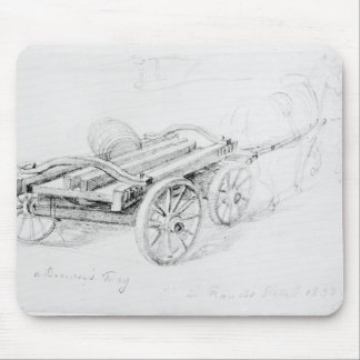 Carro de cervecero en la calle de Francisco, 1833 Tapetes De Raton