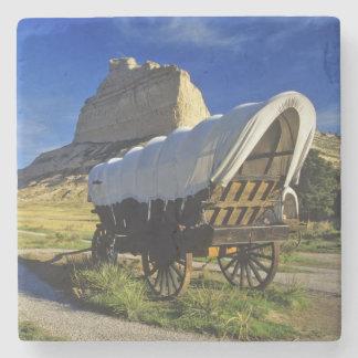 Carro de Conestoga en el nacional de Scottsbluff Posavasos De Piedra