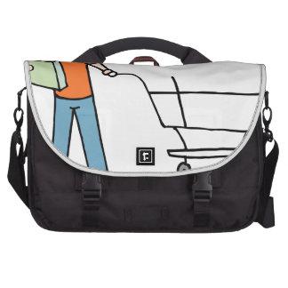 Carro de empaquetado del ultramarinos de la bolsas para portátil