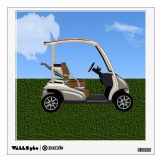 carro de golf 3D en hierba Vinilo Decorativo