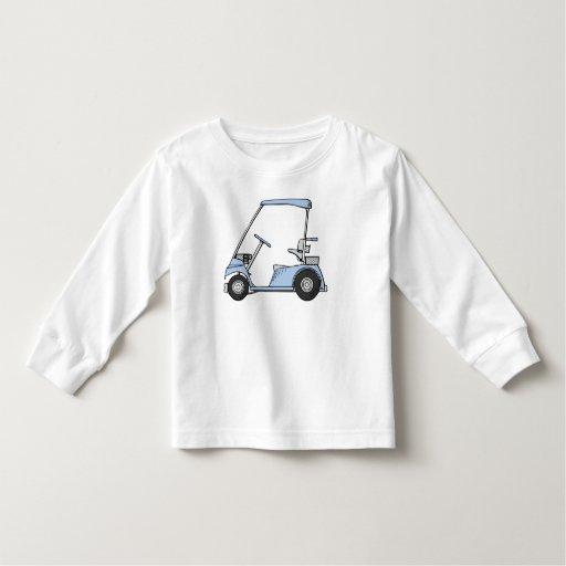 Carro de golf azul t-shirts